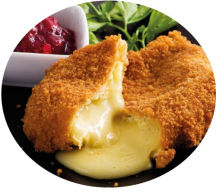 Breaded Deep Fried Camembert and Cranberry Dip