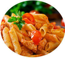 Penne Pasta Arrabiata (vegetarian or chicken)