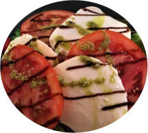 Tomato Buffalo Mozzarella and Fresh Basil Starter