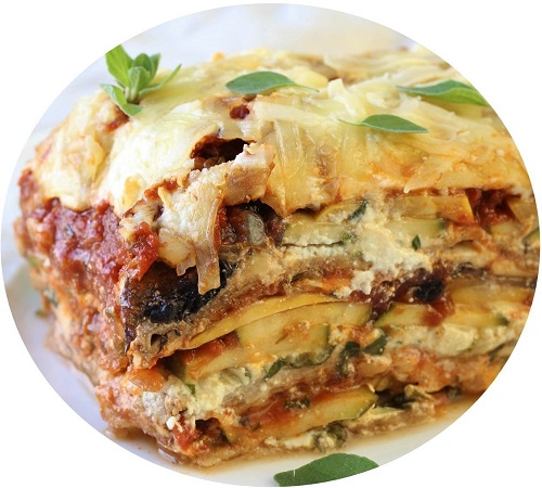 Mediterranean vegetable lasagne
